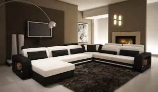 gestaltung wohnzimmerwand alina contemporary black and white leather sectional sofa vg45 leather sectionals