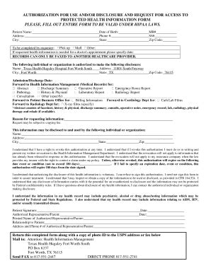 standard authorization form bcbs hipaa release form texas templates fillable printable