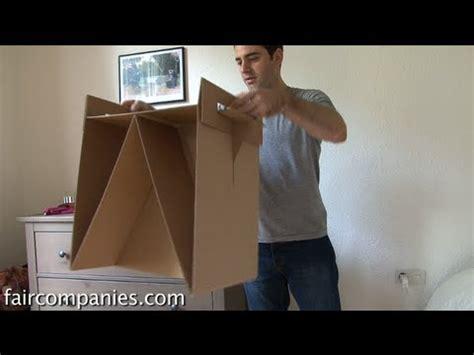 diy cardboard furniture   ikea style instructions