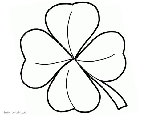leaf clover coloring pages stand  luck