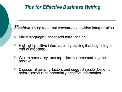 tips for writing an effective tips for effective business writing