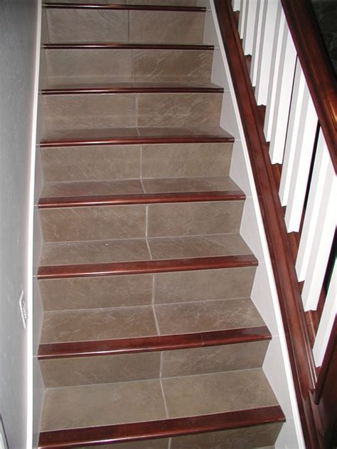 Tile Stair Nosing Wood by Foothill Area Traditional Staircase Salt Lake City
