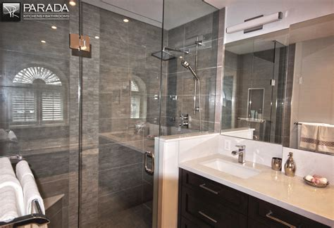 Ideas For Kitchens - traditional bathroom renovation project in toronto with custom cabinets