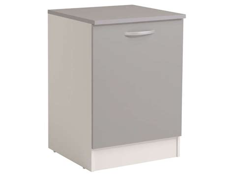 meuble cuisine largeur 55 cm meuble bas 60 cm 1 porte spoon color coloris gris vente
