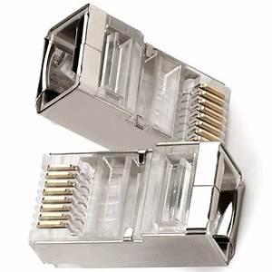 Buy Postta Shielded Rj45 Cat5e Cat6 Crimp Connector 8p8c