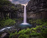 Iceland Basalt Waterfall