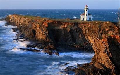 Lighthouse Desktop Wallpapers Cape Coast Rocks