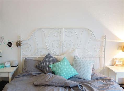 Schlafzimmer Türkis Grau by Unser Neues Schlafzimmer In Grau Wei 223 T 252 Rkis Und Kupfer