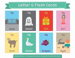 printable letter g flash cards With 2 letter words flash cards
