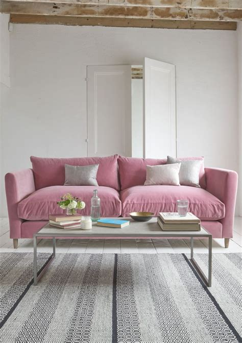 loafs comfy flopster sofa   deep pink dusty rose
