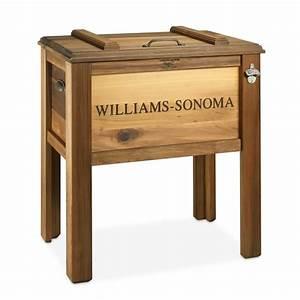 Red Cedar Wood Beer Cooler Williams Sonoma
