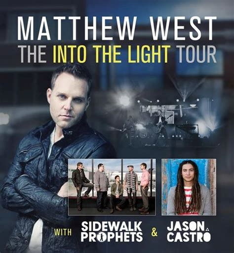 matthew west into the light matthew west sidewalk prophets to perform at olivet in