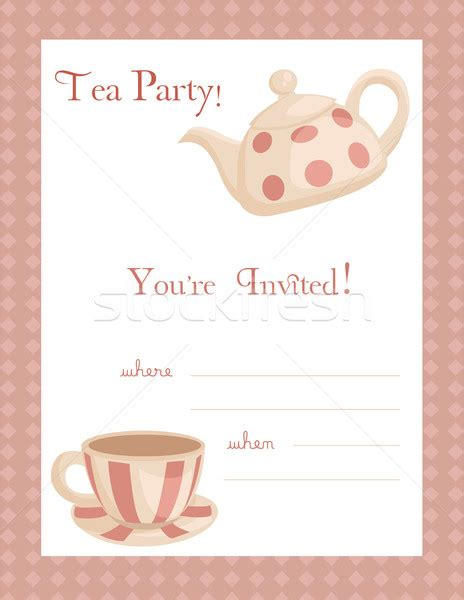 tea invitation template 9 best images of free printable tea flyers tea invitation template tea