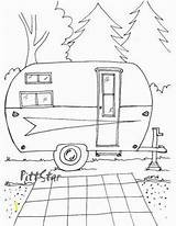 Coloring Printable Trailer Travel Adult Arrow Camper Rv Campers Instant Retro Camping Trailers Wheel 5th Sketch Patterns Happy Sheets Colouring sketch template