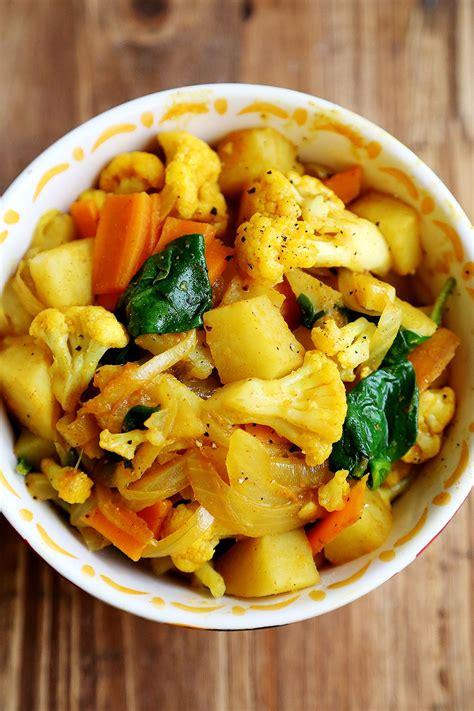 cuisiner vegan potato cauliflower curry stir fry vegan vegan stuffs