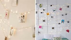 Accrocher Photos Au Mur Sans Abimer : 4 id es pour installer une guirlande lumineuse dans une ~ Zukunftsfamilie.com Idées de Décoration
