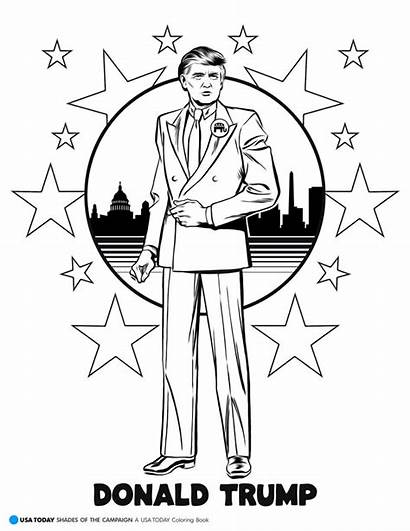 Trump Coloring Donald Pages Super Printable Star