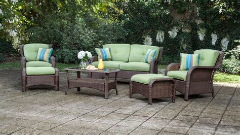 Patio Seating by Sawyer 6pc Resin Wicker Patio Furniture Conversation Set