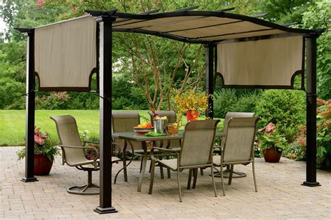 essential garden curved pergola s pg11d1nk canopy the