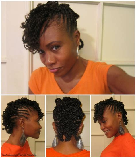 Black Hairstyles With Twists In The Front by Flat Twisted Curly Mohawk Black Hair Curly