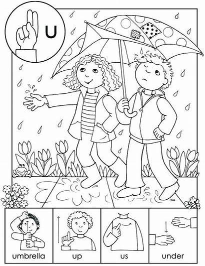 Language Sign Coloring Asl Pages Colors Abc