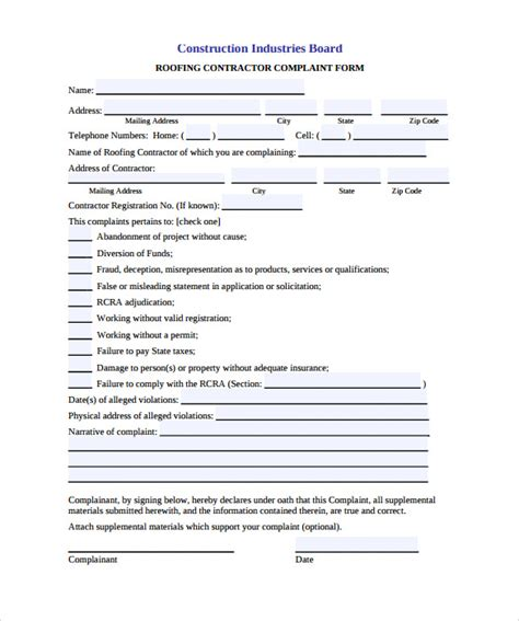 roofing contract template roofing contract template 11 free documents in pdf