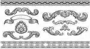Vintage ornament vector free vector download (14,513 Free