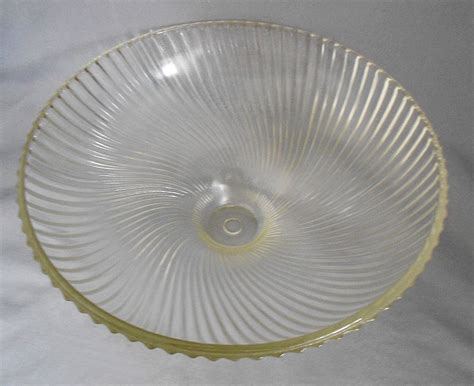 glass light covers 1950s vintage holophane swirled ribbed glass ceiling light