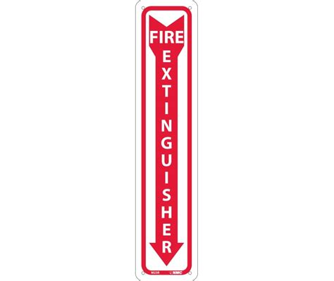 fire extinguisher down arrow english