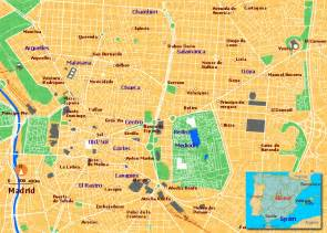 Downtown Madrid Spain Map