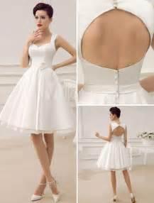 knee length wedding dresses wedding dresses white sweetheart satin 2015 sash summer sleeveless hollow back knee