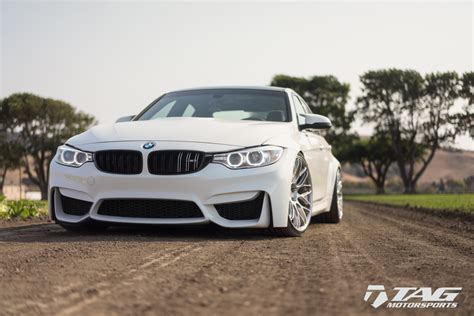 modified bmw m3 alpine white bmw m3 with hre rc100 custom wheels