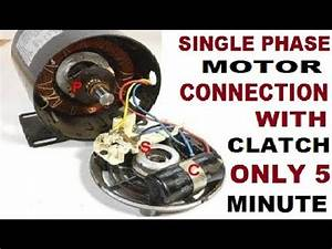 Single Phase Clutch  Centrifugal Switch  Motor Connection