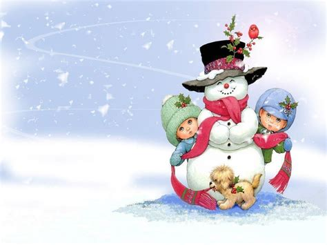 free snowman on christmasputer desktop wallpapers pictures