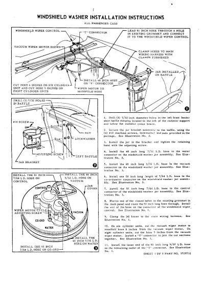 windshield washer vacuum diagram trifive 1955 chevy