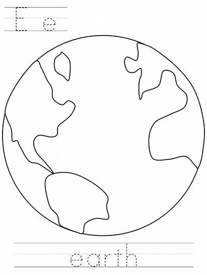 Earth Coloring Pages Printable Dltk Sheet Worksheets