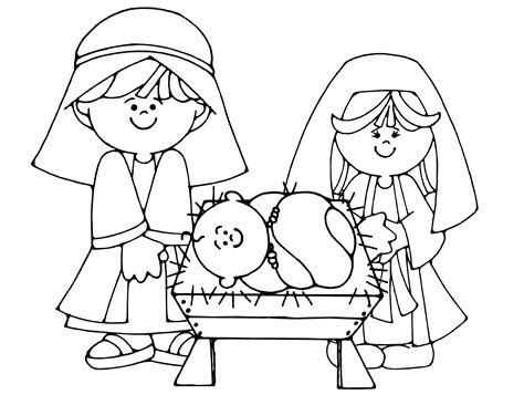 Simple Baby Jesus Coloring Pages To Print Coloring For