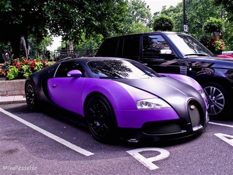 The Matt Black With Matt Purple Bugatti