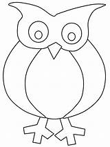 Owl Templates Owls Coloring Crafts Pdf sketch template