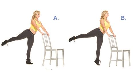Chair Leg Raise At Home by 10 To Tone Your Waist Legs And While Keeping