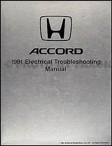 1991 Honda Accord Electrical Troubleshooting Manual Original