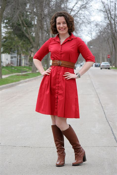 Red shirt dress Archives - Already Pretty | Where style meets body image