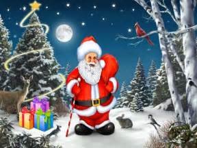 celebrities wallpaper santa claus with christmas tree new wallpapers pictures free download