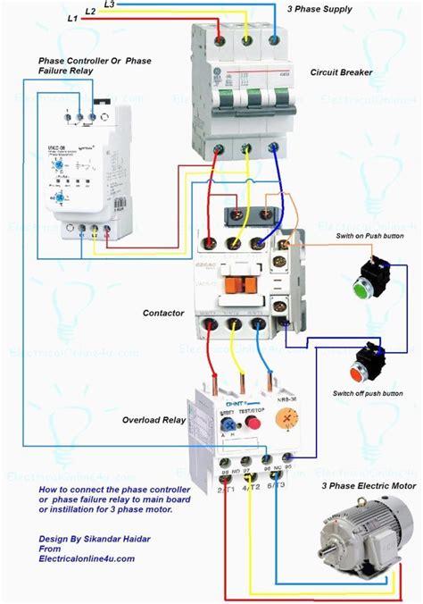 Wiring Diagram For Motor Starter Phase Controller