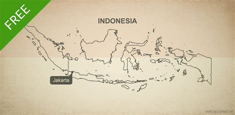 vector map  indonesia outline  stop map