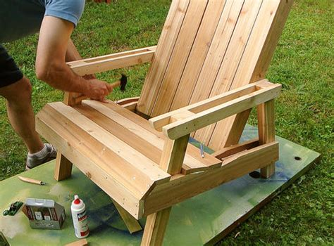 Folding Rocking Lawn Chair by Building A Lawn Chair