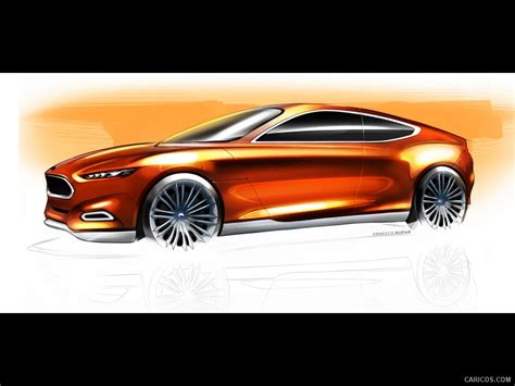 ford evos design sketch wallpaper