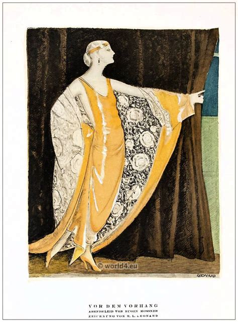 before the curtain evening dress by eugene mossner deco1922 costume history
