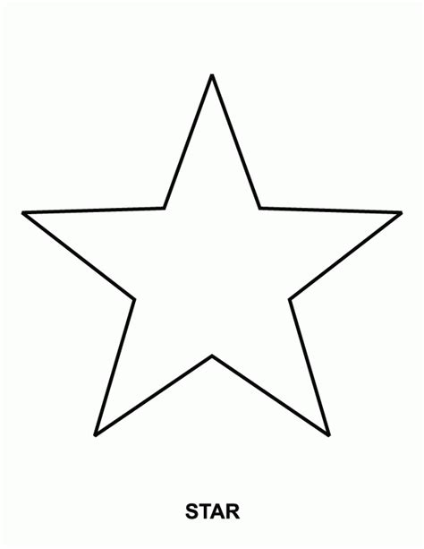 star coloring pages  preschoolers az coloring pages