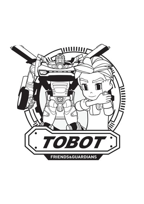 tobot coloring pages    print